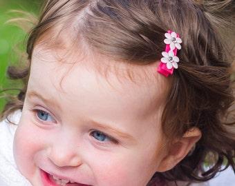 Rhinestone Flower Hair Clip Barrette