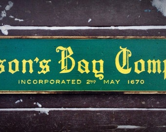 Vintage wooden sign 'Hudson's Bay Company '