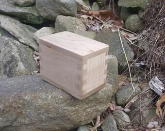 Curly Maple Swivel Lid Box