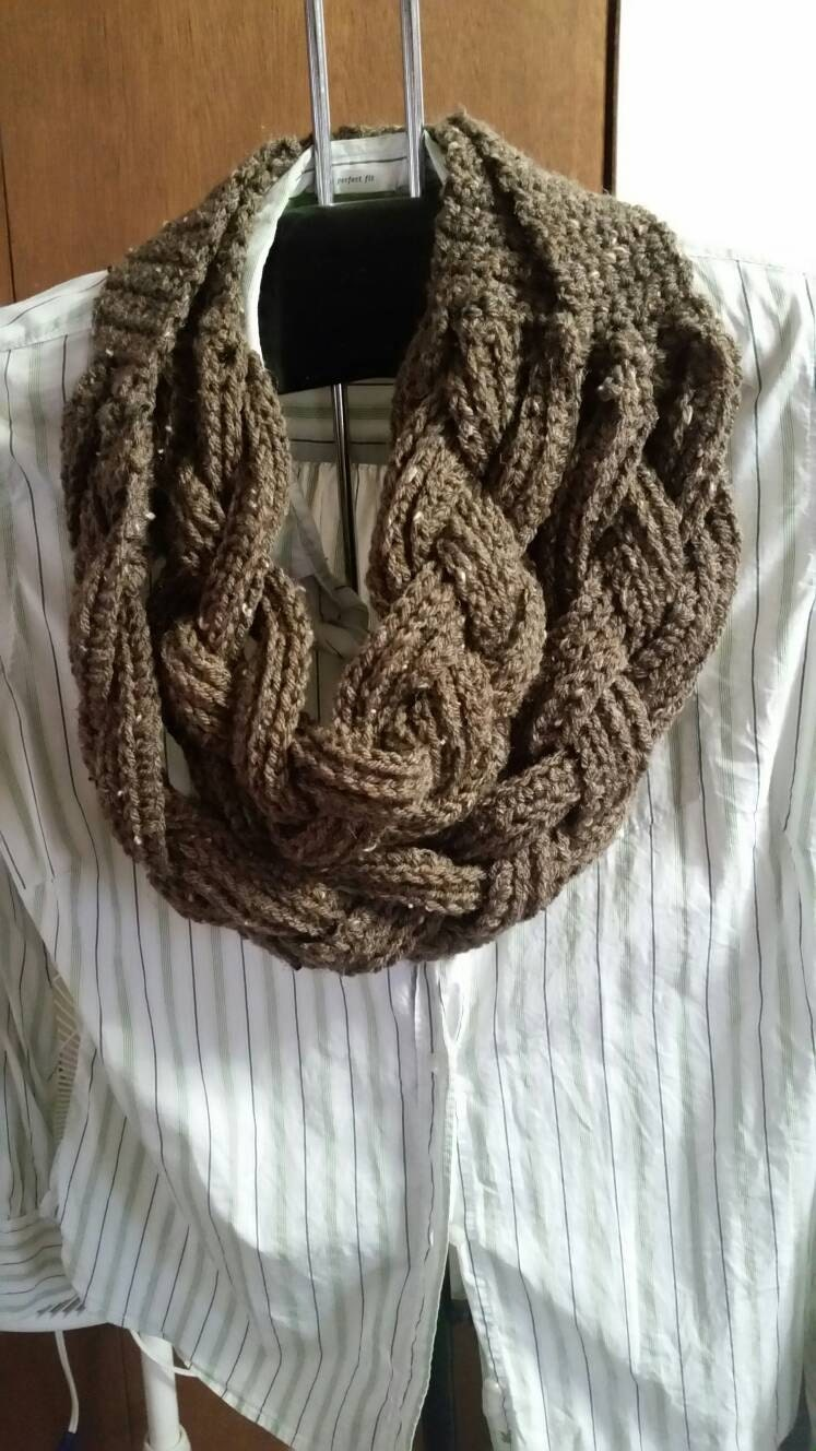 Braided Cowl Knitting Pattern : Double Braided Crochet Cowl
