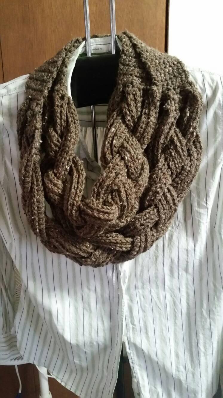 Double Braided Crochet Cowl