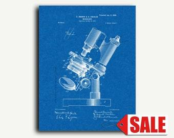 Patent Print - Microscope Patent Wall Art Poster