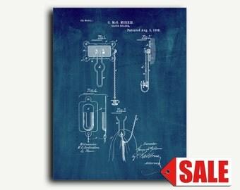 Patent Art - Cloth Holder Patent Wall Art Print