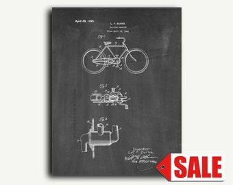 Patent Art - Bicycle Gearing Patent Wall Art Print