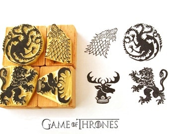 Game of Thrones inspired Hand carved rubber stamp set