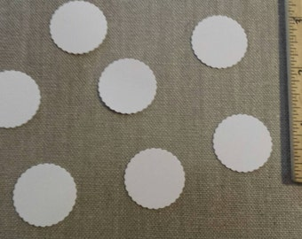 Hand punched 1 inch scallop circle confetti- table scatter/party decor/birthday/shower/wedding