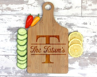 Engraved Cheese Board - Custom Name Engraved - Personalized Gift