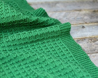 KNITTING PATTERN, Knit Blanket Pattern, Knit Afghan Pattern, Knit Baby Blanket Pattern, Afghan Pattern, Baby Blanket, Knitting  - Cambrie