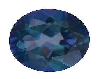 Mystic Neptune Garden Coated Topaz Oval Cut Loose Gemstone 1A Quality 9x7mm TGW 2.00 cts.