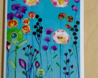 Card- Garden Flowers