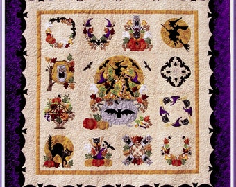 Baltimore Halloween Quilt Pattern Set By Pearl Pereira