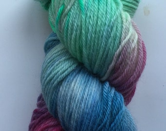 Hand Dyed Yarn | Hand Painted Yarn | 100% superwash merino wool | worsted weight | 100 grams | Off the Coast