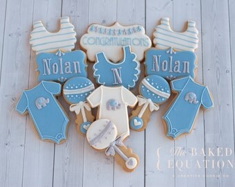 New Baby Decorated Cookies