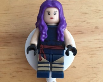 X Men© Psylocke™ Wolverine™ ID Holder Customized with Brick® Minifigure ~ Retractable Badge Reel ~ Belt Clip ~ Alligator Clip~ Keychain RN