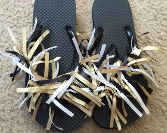 Womens size medium 7-8 ribbon sandals