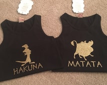 Lion King inspired shirts for 2, BFF shirts, BBF shirt for disney trip, Animal Kingdom Shirt, Hakuna Matata, twins, twin outfits