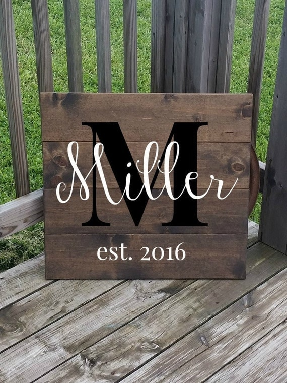 Personalized Family Name Sign Last Name Sign Large Wooden