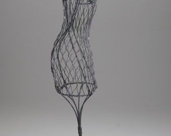 "16"" Black Wire Dress Form"
