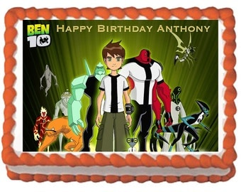 Ben 10 Edible Cake Topper with FREE PersonalizationGraduation