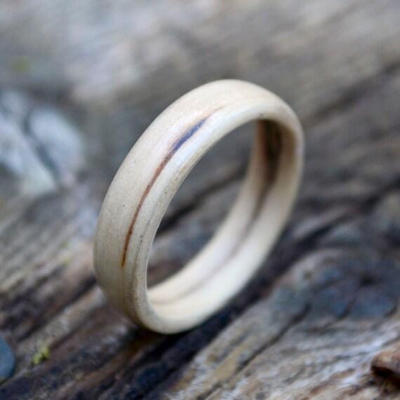 Size 12 - Unisex Iron woodring  // Wedding band // Bentwood ring made from Iron wood