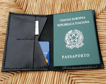 Leather Passport Cover - Travel Wallet - Leather Passport Wallet - Holiday Wallet- Travelling Wallet - Passport Holder Handmade by Claudio