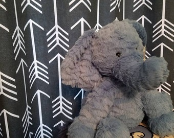 Lined Curtains Grey Curtain Panels Arrow Design Gathered
