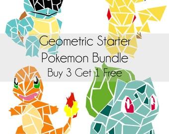 Geometric Starter Pokemon Bundle Digital Prints BUY 3 GET 1 FREE