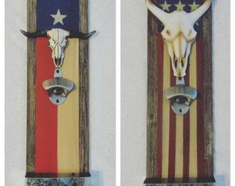 Us flag or texas flag Bottle openers