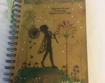 Make a wish - magical fairy notebook