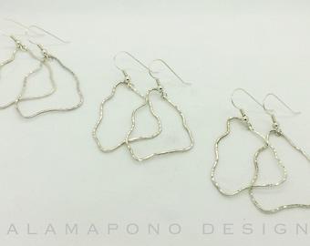 Sterling silver Big Island earrings
