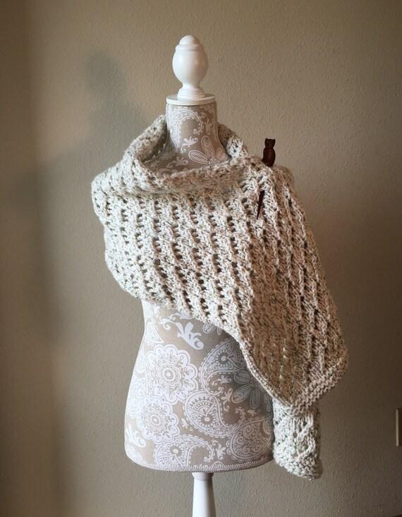 Lace Shawl - a loom knit pattern