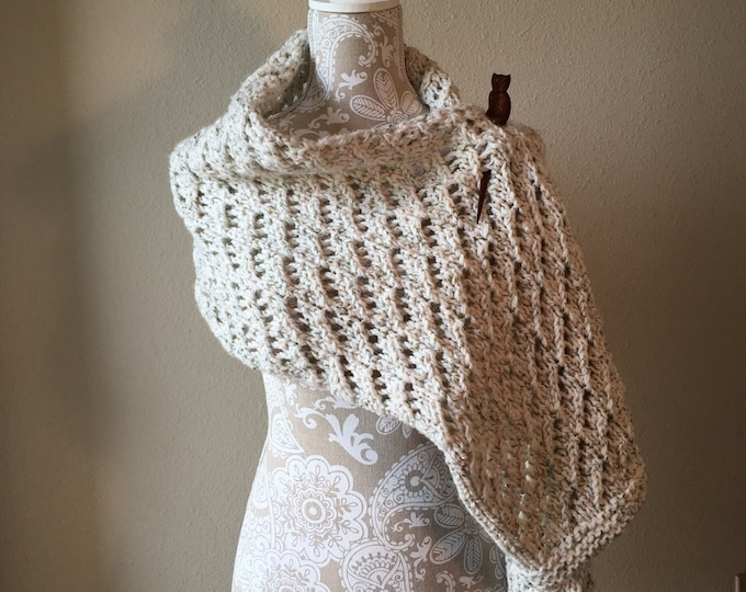 Featured listing image: Lace Shawl - a loom knit pattern