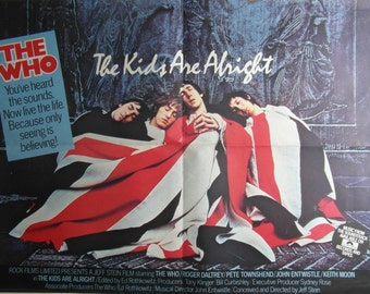 Original 1979 The Who UK Quad for 'The Kids Are Alright'.