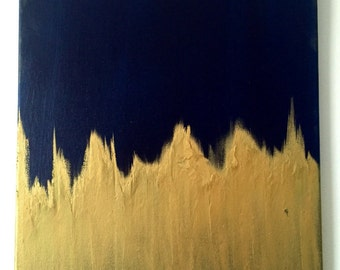 Textured Abstract Canvas Painting