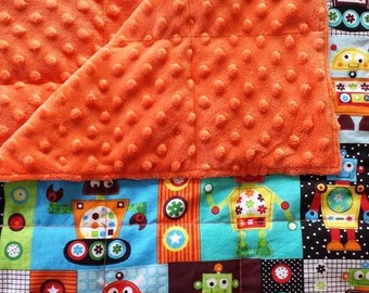 Shipping Included - Custom Weighted Blanket - Robot