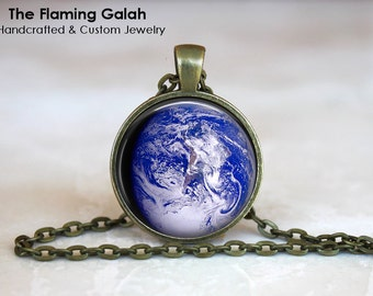 PLANET EARTH Pendant •  Earth from Space •  Astronomy •  Planet Earth Photo •  World Globe • Gift Under 20 • Made in Australia (P0241)