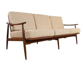 Restored Italian Mid Century Modern Sofa