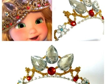 Tangled Rapunzel Crown  , Rapunzel Gold Crown , Rapunzel Tiara ,  Rapunzel Costume ,Rapunzel Tangled Tiara Crown