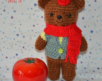 knitted stuffed bear Knitted bear - Hand Knitted Animal - Plush Knitted Toy - Kids Toy Plush Doll - Kids baby Children Gift