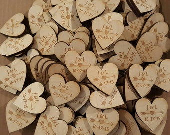 Wedding Favor Heart Magnets -  Qty 50