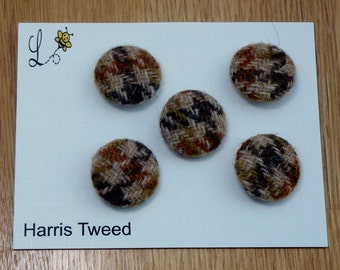 Harris Tweed Covered Buttons