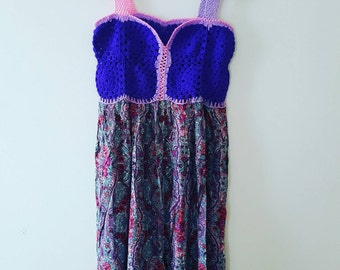 Handmade knitting dress