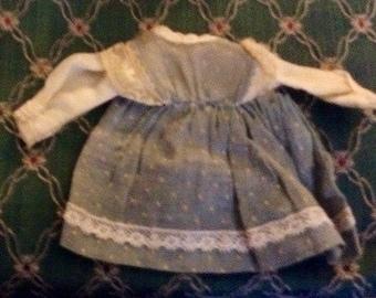 Handmade Blue Doll Dress