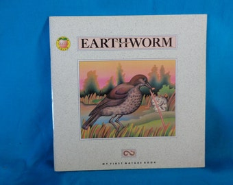 vintage 1993 Earthworm book by Andrienne Soutter-Perrot Brighter Child's Series My First Nature Book