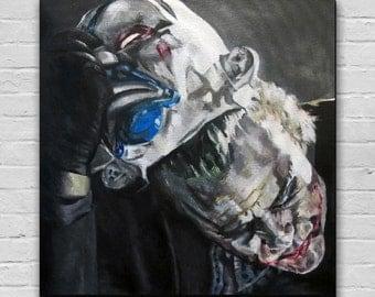 War Paint -The Joker, Heath Ledger, The Dark Knight Rises Art Canvas Print