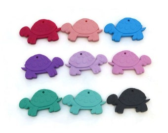Turtle - Animal - Teething toy - Pendant - Silicone - Food silicone - Chewing toy - Chewable - Safe silicone - Baby - Colors to choose