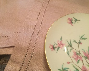 Table Runner and 6 Placemats Pink Hand Woven