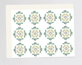 Vintage wall paper Greeting Card