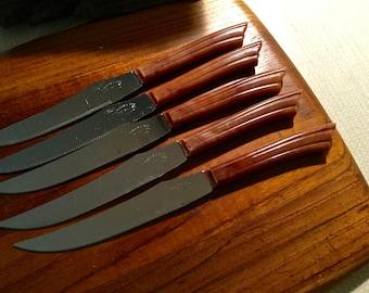 E. Parker & Sons Steak Knives English Sheffield bladeSet of 5