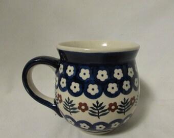 Mug, Stoneware, Hand Made and Hand Painted, W. Markowska, Poland
